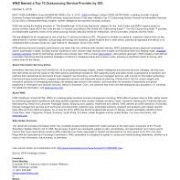WNS named top 10 Outsourcing company by ISG