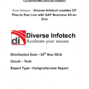 'Diverse Infotech enables CP Plus to Run Live with SAP Business All-in-One